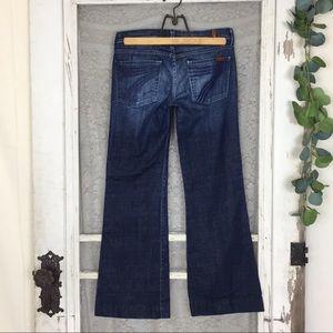 7 For all Mankind DoJo Lexi Wide Leg Jeans 28P  Q1